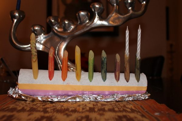 Chanukah: Handmade Menorah #2 and Giveaway Challenge