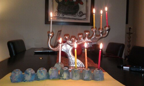 Chanukah Challenge and 3rd Handmade Menorah