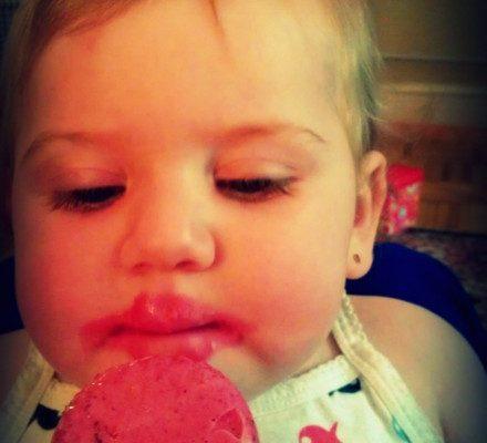 Anya likes her Zoku pop
