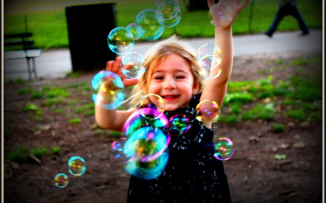 Bubbles are a Kid's Best Friend