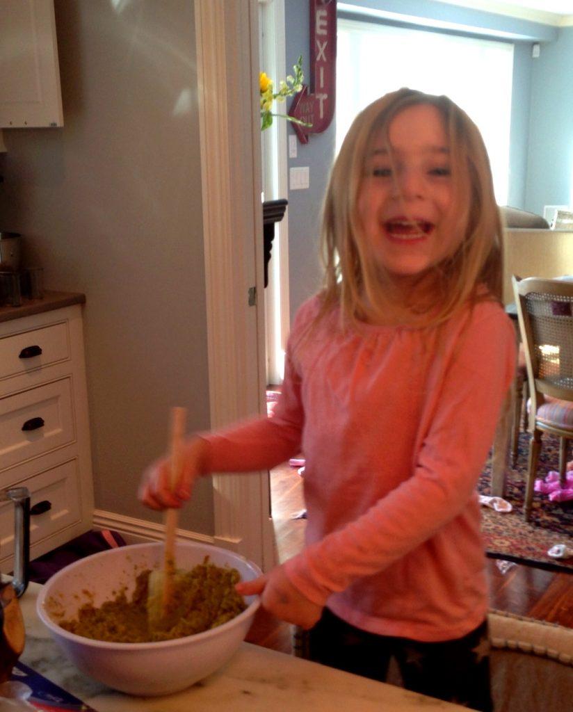 making homemade falafel